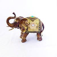 Фігура слона з квіткою, хобот до верху 35см Гранд Презент H2449-4D