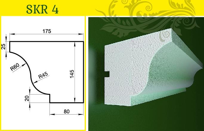 Карниз / фасадный багет , в/ш, мм: 145 / 175