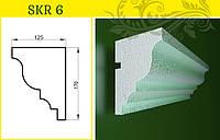 Карниз - декор фасада из усиленного пенопласта, в/ш, мм:  125 / 170
