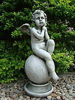 Садовая фигура Ангел на шаре 36×34.5x64cm SS0697
