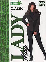 Колготки женские бамбук Lady May Bamboo 350 Den - 1, 2, 3, 4 р. чёрные