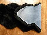 Овчина крашенная черная из мериноса сшитая, фото 2