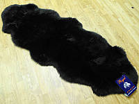 Овчина крашенная черная из мериноса сшитая
