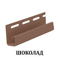 Сайдинг DOCKE Профиль J-trim (шоколад, гранат) 3,05 м