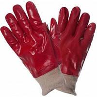 Перчатки МБС маслобензостойкие залитые красным ПВХ