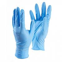 Перчатки медицинские нитриловые голубые (неопудренные, текстурированные ) L , XL