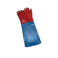 Перчатки ПВХ  с нарукавником (60см)