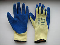 Перчатки пена х/б Люкс синие