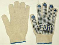 Перчатки с ПВХ точкой FAR р.8