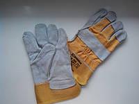 Перчатки спилковые (х/б со спилковой накладкой)