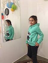 """Теплый детский спортивный костюм для девочки """"Мишка"""" с капюшоном и аппликацией (3 цвета), фото 2"""