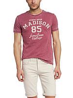 Мужская футболка LC Waikiki красного цвета с надписью Madison 85, фото 1