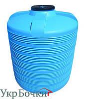 Емкость пластиковая для воды 8000 литров, вертикальный бак синий