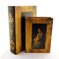 Шкатулка в виде книги 2х – Девушка
