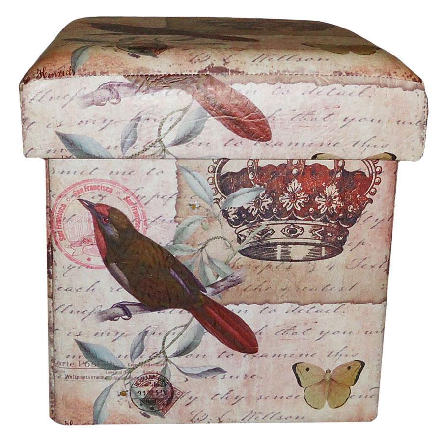 Пуфик банкетка, складной - Корона, с ящиком Гранд Презент SH31456-073
