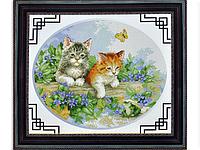 Набор для вышивки картины Котята 47х40см
