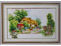 Набор для вышивки картины Лесная хижина 64х43см