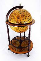 Глобус бар напольный на 3 ножки 450 мм коричневый