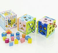 Дерев'яна іграшка Куб-логіка 0333 коробка