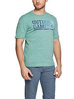 Мужская футболка LC Waikiki зеленого цвета с надписью Outdoor Games