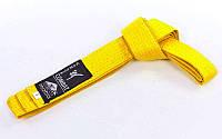 Пояс для кимоно MATSA (цвета в ассортименте) Желтый, 300 см.