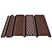 Сайдинг DOCKE Софит (Шоколад) 0,93 м2