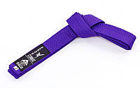 Пояс для кимоно MATSA (цвета в ассортименте) Фиолетовый, 300 см.