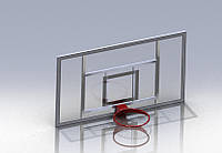 Баскетбольный щит игровой 1800Х1050ММ. ОРГСТЕКЛО