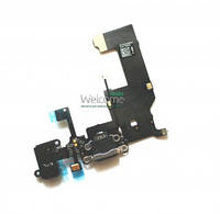 Iphone5 charge connector with hands free and components black orig