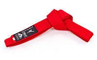 Пояс для кимоно MATSA (цвета в ассортименте) Красный, 280 см.