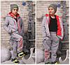"""Теплый подростковый спортивный костюм унисекс """"BOY"""" с меховой подкладкой (2 цвета), фото 2"""