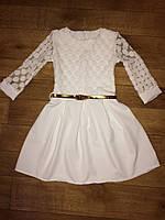 Нарядное платье для подростков с пояском от 9 лет