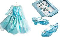 Костюм для девочек: королева Эльза, Холодное сердце+парик.  Frozen, Disney.