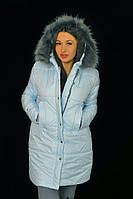 """Стильная  женская куртка для пышных дам """" Мех воротник """" Dress Code"""