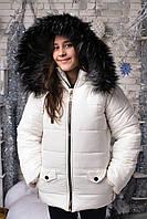 """Подростковая зимняя куртка для девочки """"Аляска"""" с мехом и капюшоном (3 цвета)"""