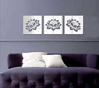 Декоративное акриловое зеркало Цветы лотоса