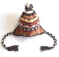 Шапка детская вязанная теплая зимняя Ergee обхват головы 48