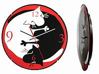Часы настенные Инь-Ян - Коты