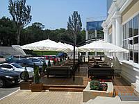 """Зонт 6х3м. консольный двухкупольный """"Титан"""" для летней площадки или кафе"""