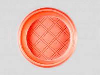Тарелка одноразовая пластиковая 165 цветная (50шт) Дифлон