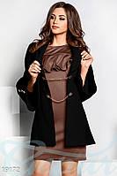 Оригинальное кашемировое пальто. Цвет черный.