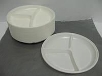 Тарелка одноразовая пластиковая 205 Андрекс (3 секции) (уп.100 шт)