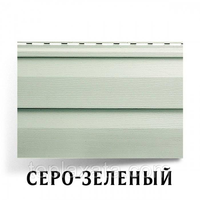 Сайдинг АЛЬТА ПРОФИЛЬ Ангара серо-зеленый (0,84 м2)