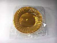Тарелка стекловидная желтая Юнита (уп.10 шт)