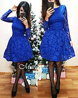 Женское красивое платье набивной гипюр,пыщная юбка,разные цвета.