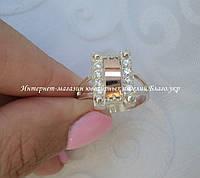 Серебряное кольцо с накладками золота