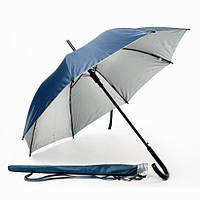 Зонт-трость автомат в чехле Темно-синий Металлик