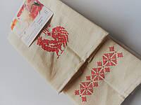 Полотенца льняные с красной вышивкой