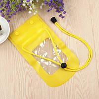 Водонепроницаемый чехол для телефона, фотоаппарата, документов и прочего желтый