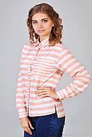 Стильная женская рубашка в полосочку оптом и в розницу